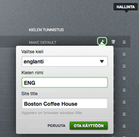 Language settings
