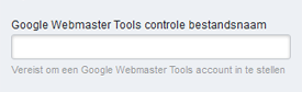 Verify Google Webmaster Tools