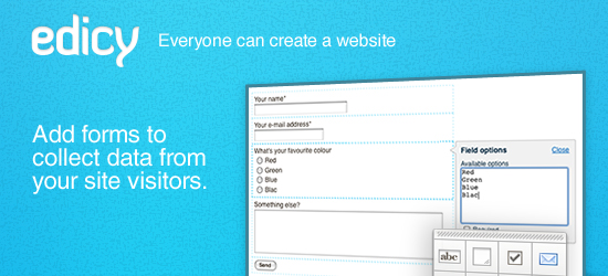 Build powerful forms to collect data from your site visitors.